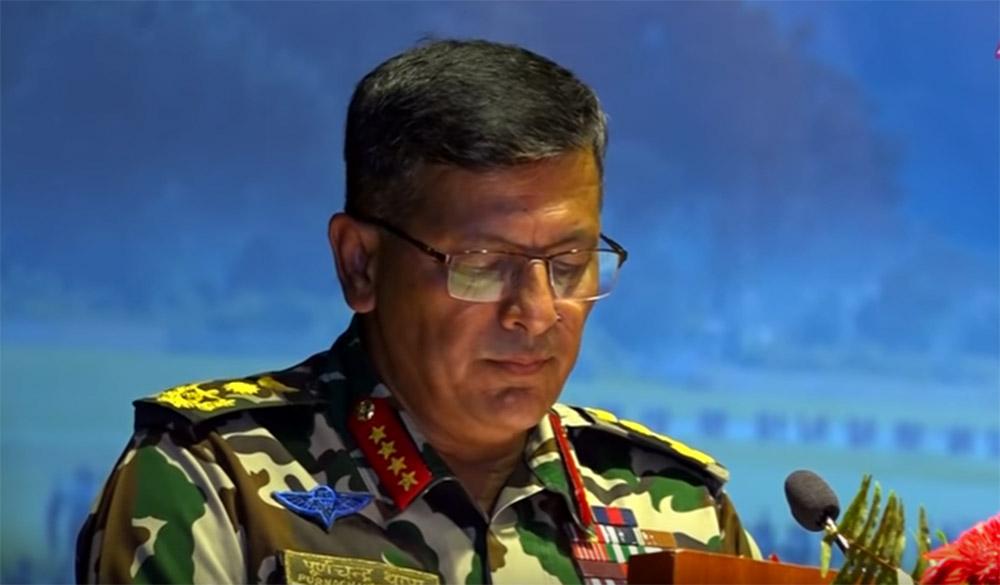 """जङ्गी अड्डामा """"सेना कमाण्डको १,००० दिन"""" कार्यक्रम"""