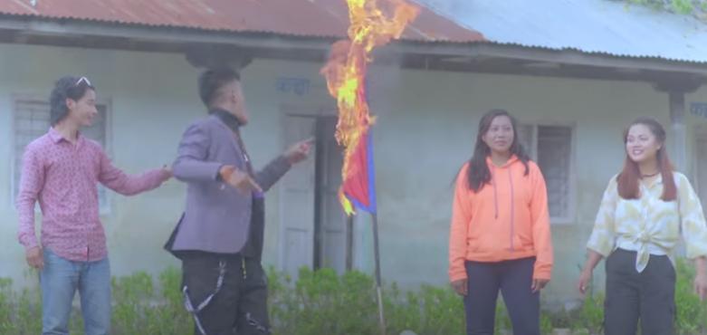 राष्ट्रिय झण्डा जलाउने तामाङ पुर्पक्षका लागि थुनामा