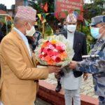 गृहमन्त्रीबाट सशस्त्र प्रहरी बल नेपाल प्रधान कार्यालयको निरीक्षण तथा निर्देशन